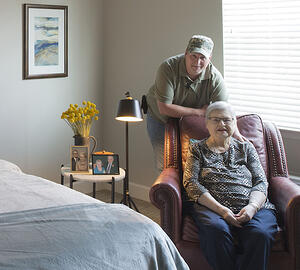 Resident and Son at Pinnacle Assisted Living